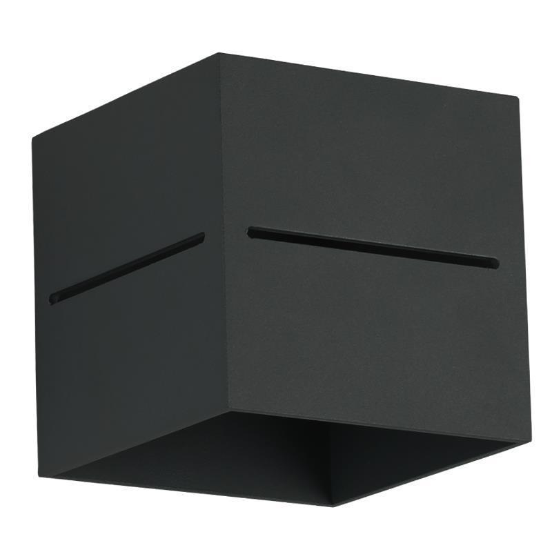 Moderné nástenné svietidlo Quado Pro A Black