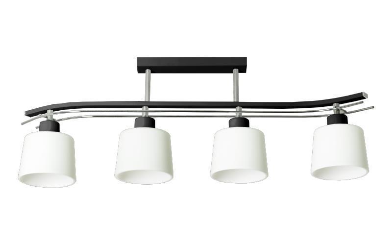Klasická čierna stropná lampa Olimp 4