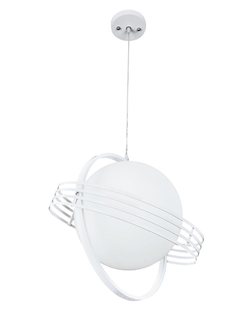 Moderná biela závesná lampa Saturno
