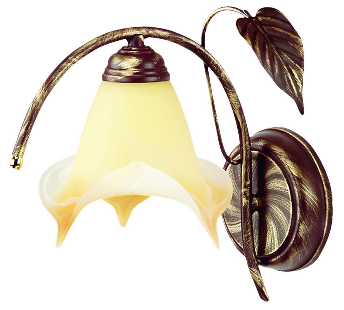 Klasická rastlinná lampa na stenu