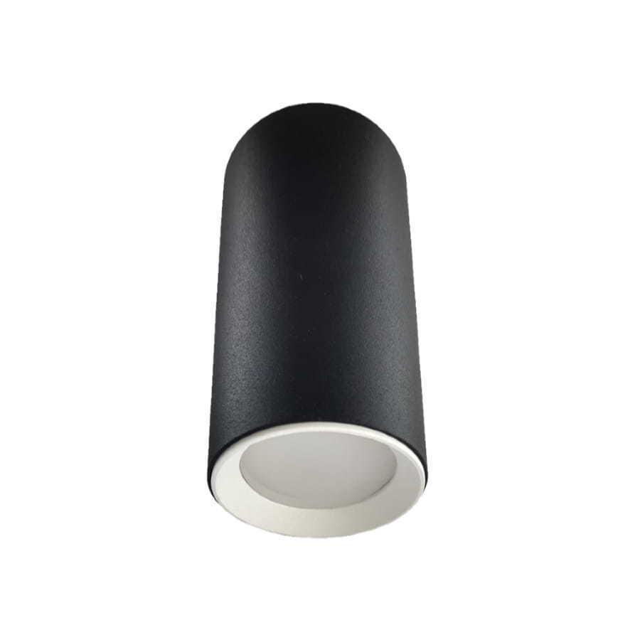 Čierny prsteň Manacor s bielym prsteňom, 13 cm