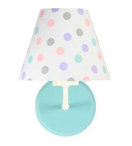 Biele nástenné svietidlo Raggio E27 60W do detskej izby, bodky small 2