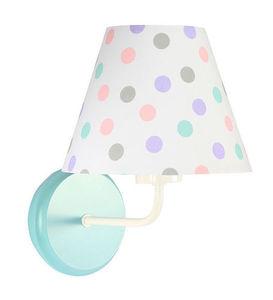 Biele nástenné svietidlo Raggio E27 60W do detskej izby, bodky small 3