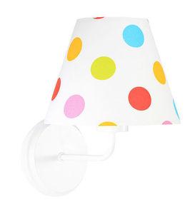 Kónus nástennej lampy s farebnými bodkami Raggio E27 60W pre deti small 1