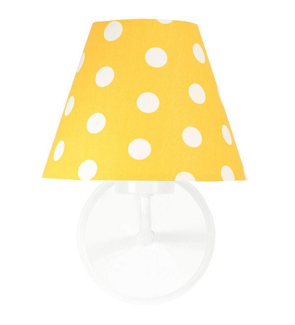 Nástenné svietidlo do detskej izby Raggio E27 60W zlaté / biele bodky
