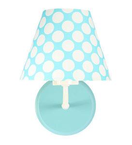 Nástenná lampa do detskej izby - Raggio E27 60W tyrkysová / biele bodky small 2