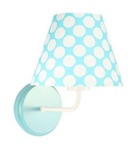 Nástenná lampa do detskej izby - Raggio E27 60W tyrkysová / biele bodky small 3