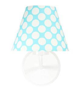 Nástenná lampa do detskej izby - Raggio E27 60W tyrkysová / biele bodky small 0