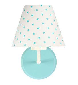 Nočná lampa, nástenné svietidlo pre deti Raggio E27 60W biele / tyrkysové malé hviezdičky small 2