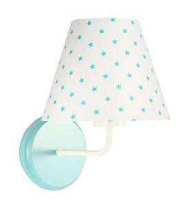Nočná lampa, nástenné svietidlo pre deti Raggio E27 60W biele / tyrkysové malé hviezdičky small 3