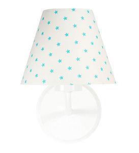 Nočná lampa, nástenné svietidlo pre deti Raggio E27 60W biele / tyrkysové malé hviezdičky small 0