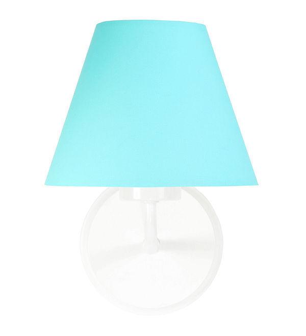 Tyrkysové nástenné svietidlo Raggio E27 60W do miestnosti pre mládež