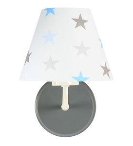 Nástenné svietidlo pre chlapca Raggio E27 60W biele / sivomodré hviezdy small 2
