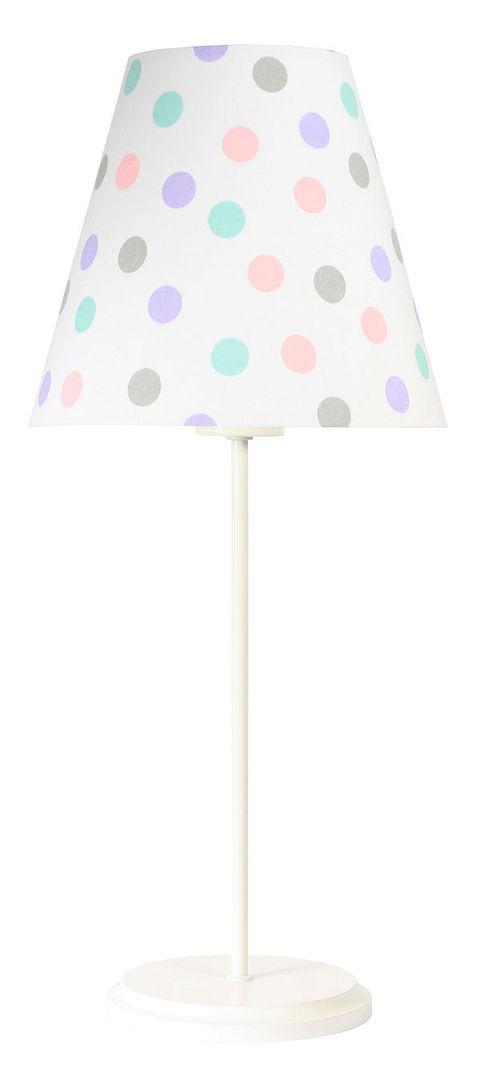 Detská stolná lampa Ombrello 60W E27 50cm pastelové bodky