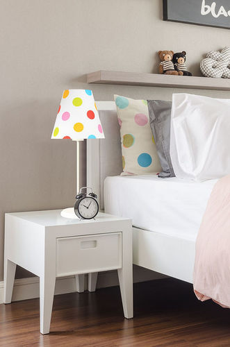 Svietidlo pre deti Ombrello 60W E27 50cm farebné bodky, na písací stôl