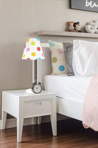 Svietidlo pre deti Ombrello 60W E27 50cm farebné bodky, na písací stôl small 0