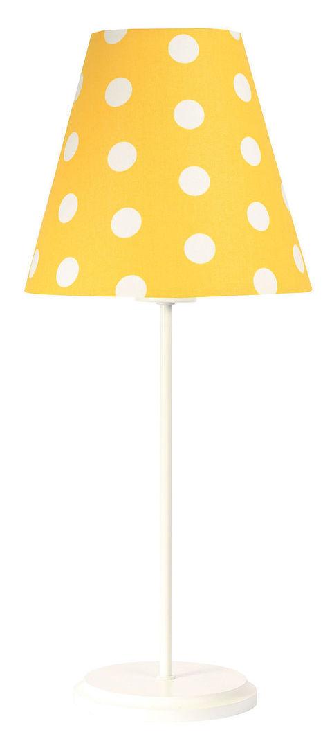 Stolná lampa pre dieťa Ombrello 60W E27 50cm zlaté / biele bodky