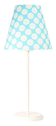 Stolná lampa s tienidlom Ombrello 60W E27 50cm modré / biele bodky