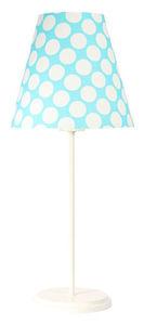 Stolná lampa s tienidlom Ombrello 60W E27 50cm modré / biele bodky small 0