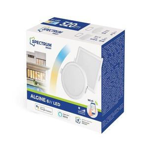 Algine 6w Cct + tlmené Wi-Fi spektrum Smart Round small 1