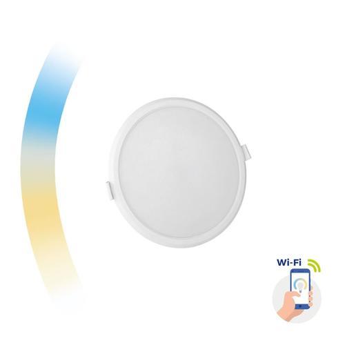 Algine 12w Cct + tlmené Wi-Fi spektrum Smart Round