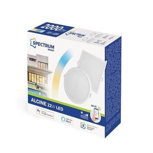 Algine 22w Cct + tlmené Wi-Fi spektrum Smart Round small 1