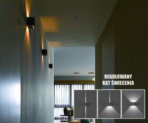 Kreo LED vonkajšie nástenné svietidlo 2x3W hranaté 4000K nastaviteľný uhol osvetlenia small 0
