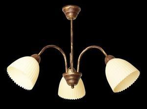 Klasický luster Vezuwio 3 bronz + zlato small 1