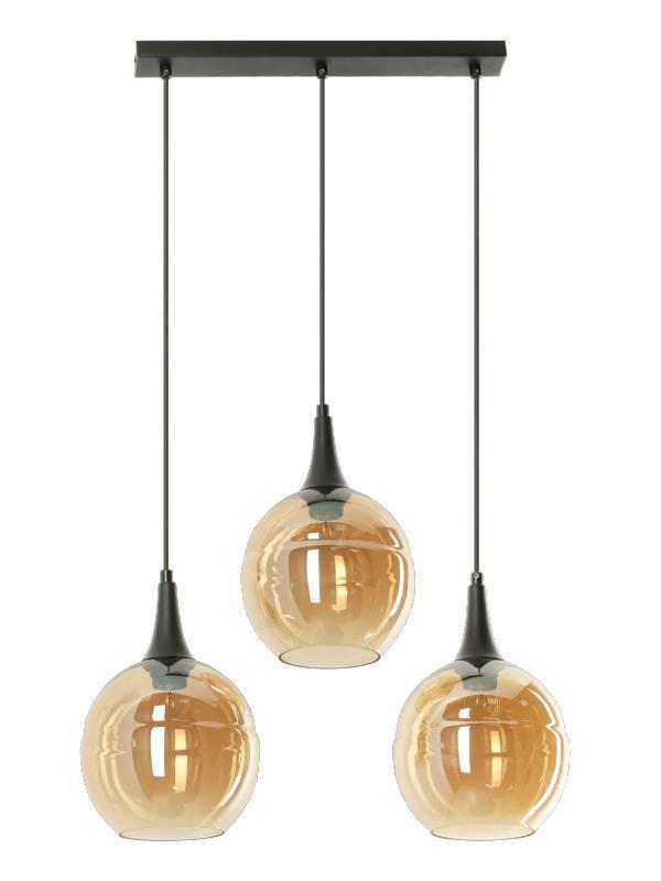 Dizajnová závesná lampa Malwi 3