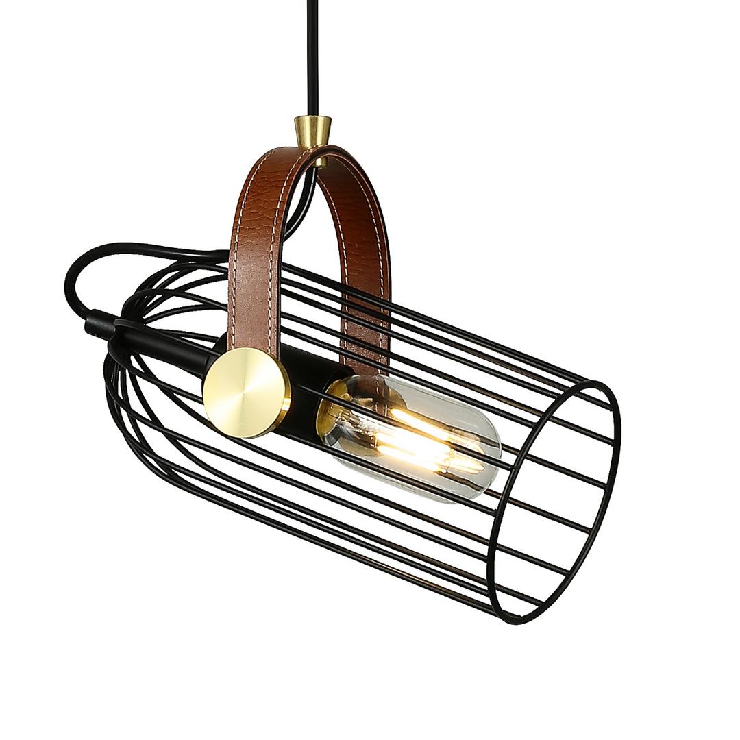 Čierna závesná lampa Antoin E27