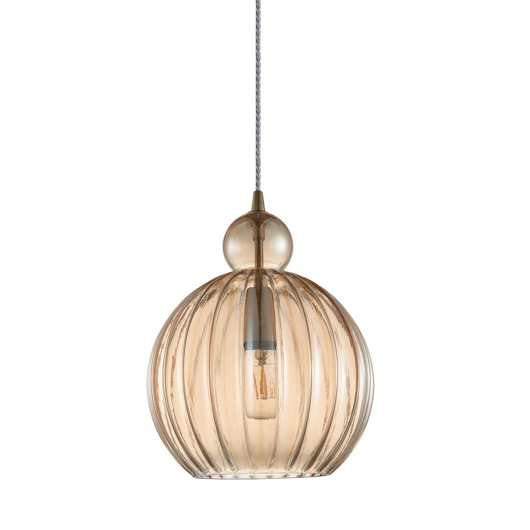 Mosadzná závesná lampa Biron E27