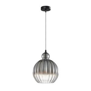 Čierna závesná lampa Biron E27 small 1