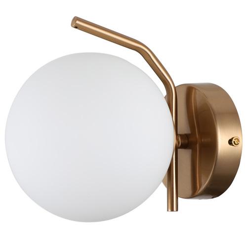 Mosadzná moderná nástenná lampa Carimi G9