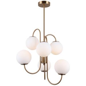Mosadzná závesná lampa Gela G9, 6 žiaroviek small 1