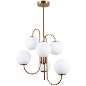 Mosadzná závesná lampa Gela G9, 6 žiaroviek small 0