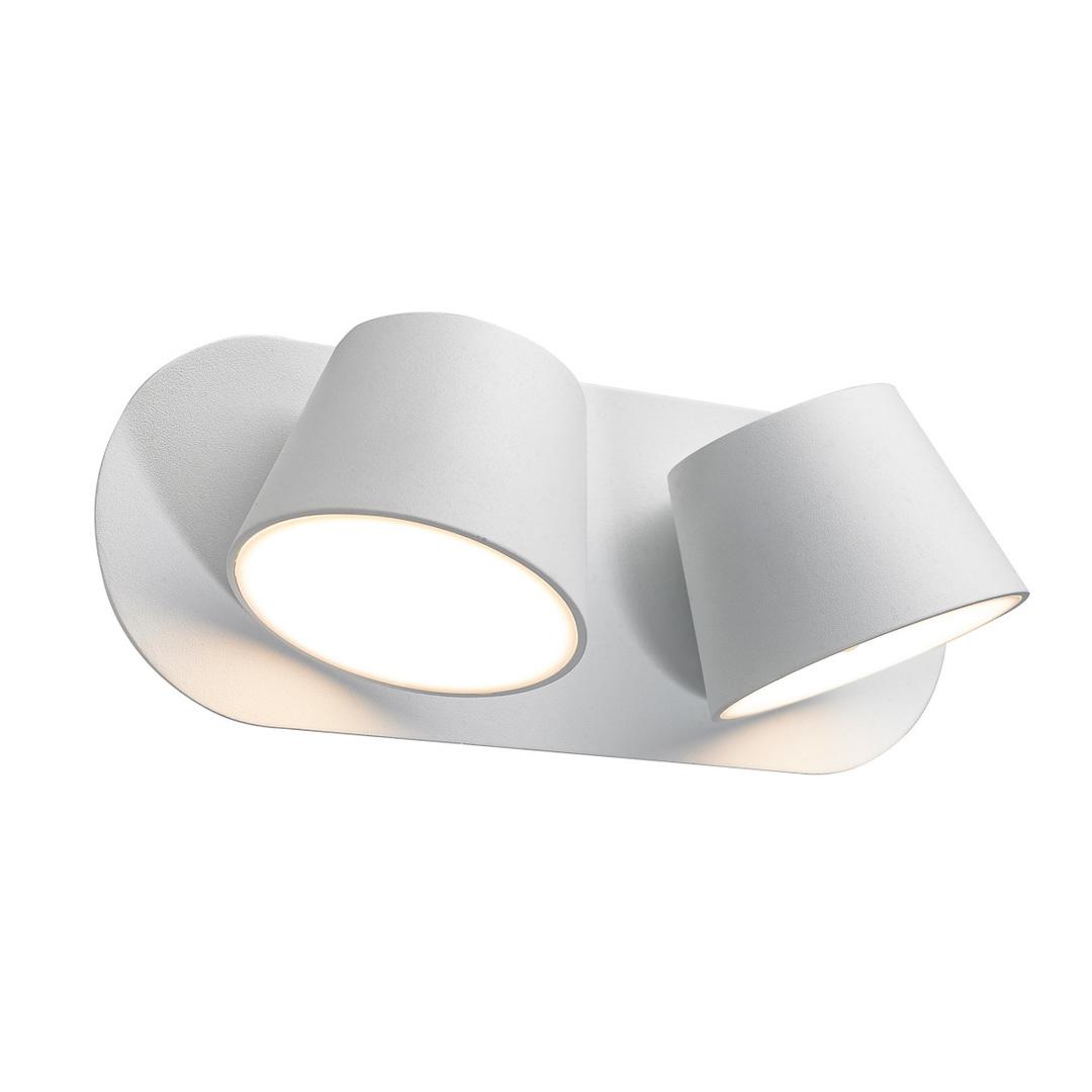 Biele moderné nástenné svietidlo Kuola LED