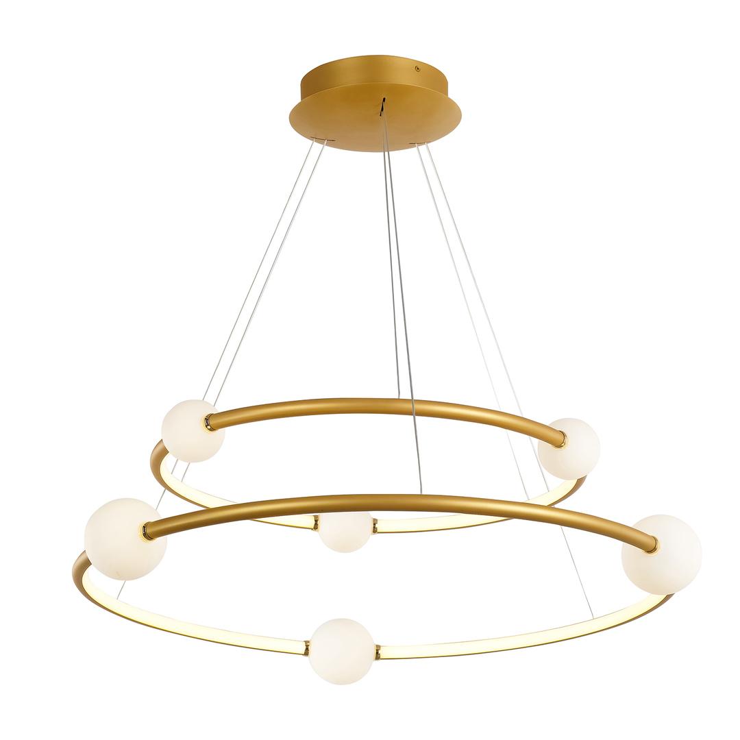 Bronzová LED závesná lampa Lausanne