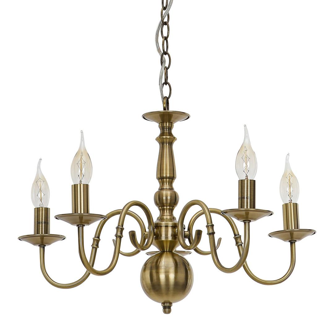 Marion E14 hnedá závesná lampa, 5 žiaroviek