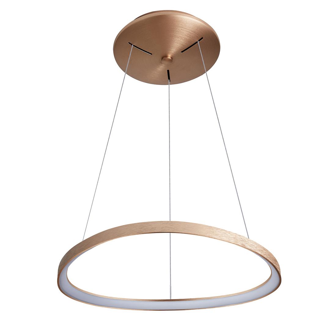 Hnedá závesná lampa Morfi LED