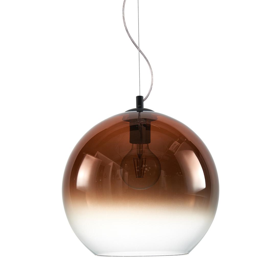 Čierna závesná lampa Namelo E27