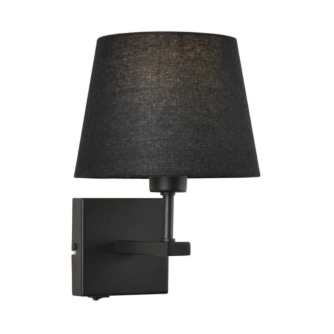 Čierny nočný stolík Norte E27