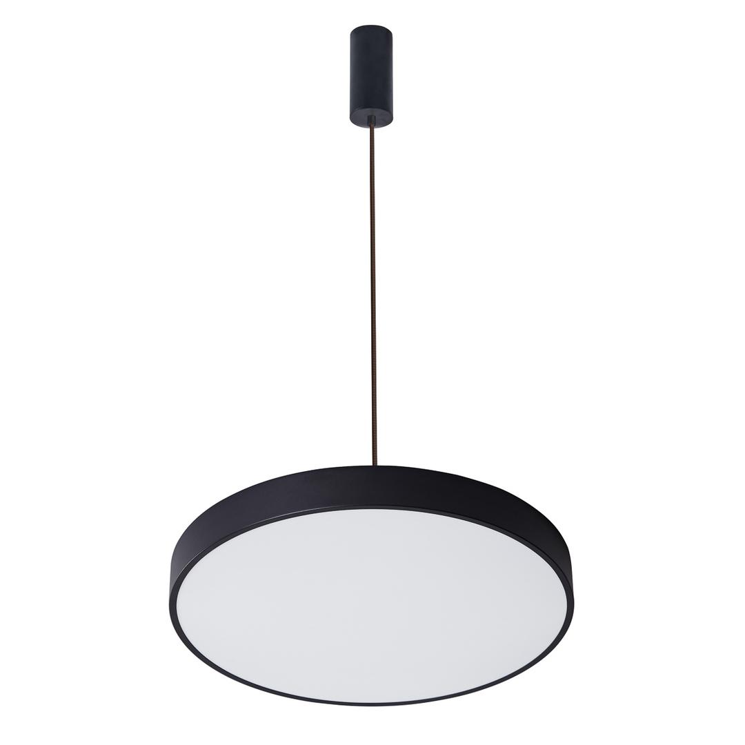 Čierna orbitálna LED prívesková lampa