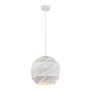 Biela závesná lampa E27 small 1