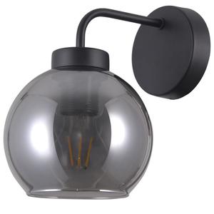 Čierna škandinávska nástenná lampa Poggi E27 small 0