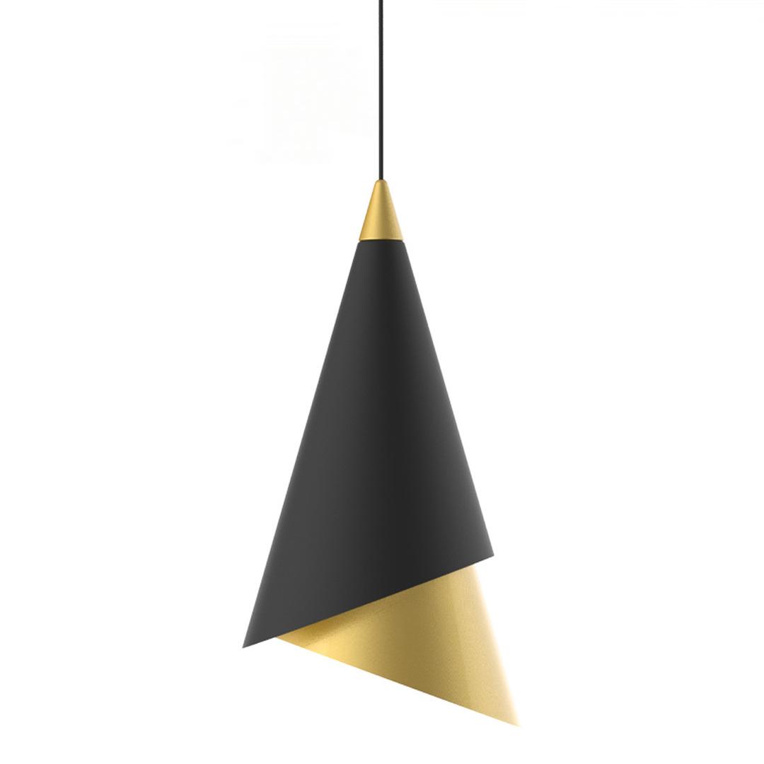 Čierna závesná LED lampa Raalto