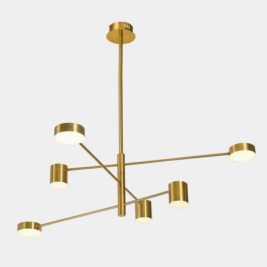 Medené závesné svietidlo Remdal LED