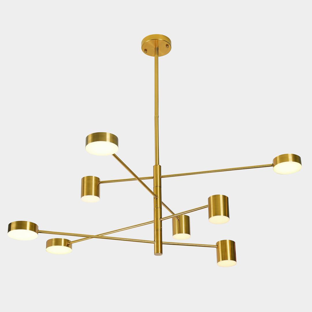Zlatá závesná lampa Remdal ITALUX LED