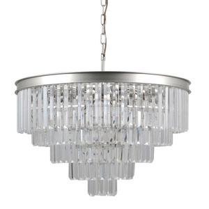 Strieborná prívesková lampa Verdes E14, 11 žiaroviek small 0