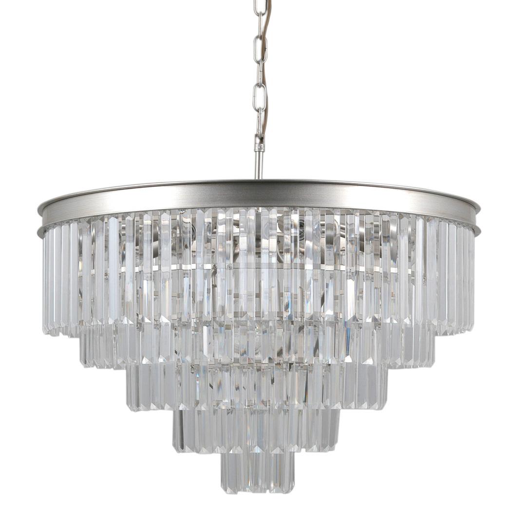 Strieborná prívesková lampa Verdes E14, 11 žiaroviek