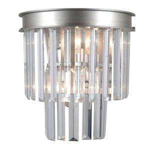 Strieborná nástenná lampa Verdes E14 2-žiarovka small 1